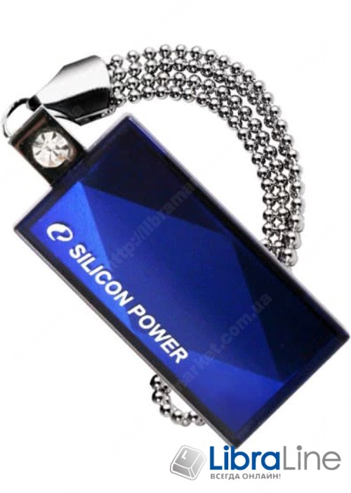 Флэш память SiliconPower Touch 810 32Gb Blue SP032GBUF2810V1B фото 1