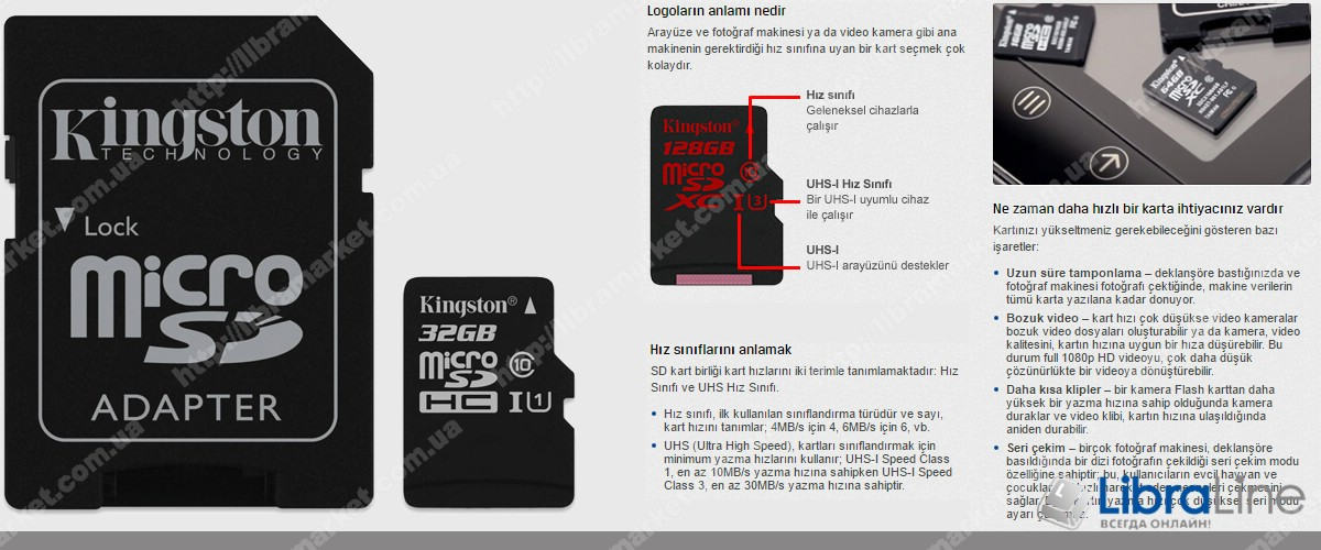 Флеш память microSDXC+SD adapter 32Gb Class 10 UHS-I Kingston SDC10G2/32GB фото 2