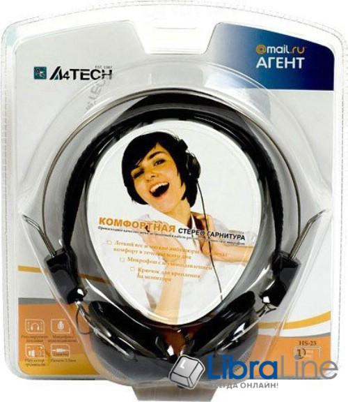 Наушники с микрофоном  A4-Tech HS-23  black - гарнитура фото 1
