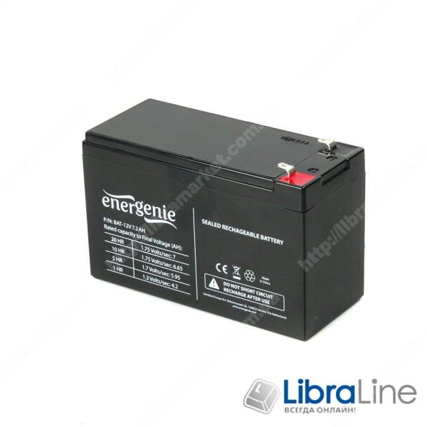 Аккумуляторная батарея, аккумулятор  EnerGenie BAT-12V7.2AH, 12В 7.2 Aч фото 1
