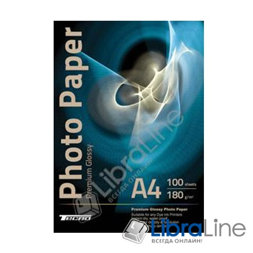 Фотобумага Tecno A4 Glossy 100л 180g Premium фото 1