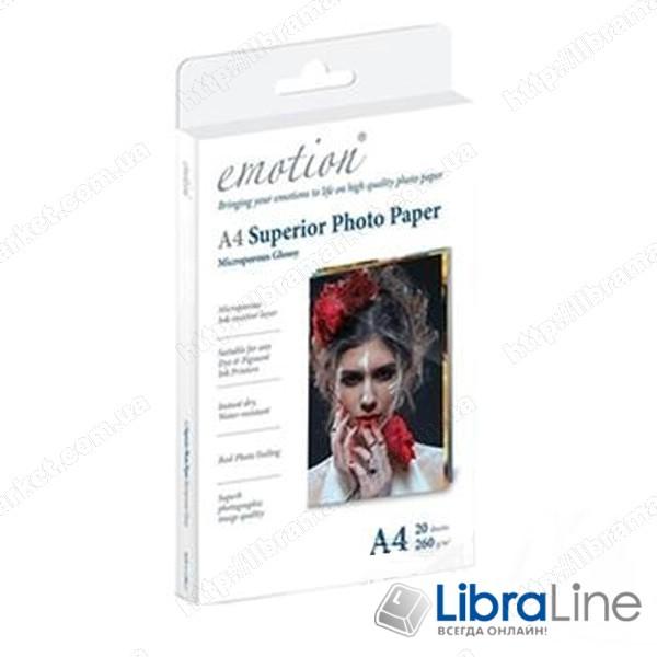 Фотобумага Emotion A4 Superior Glossy 20л 260g ESP260A4 фотобумага стоимость фотобумага а4 фото 1
