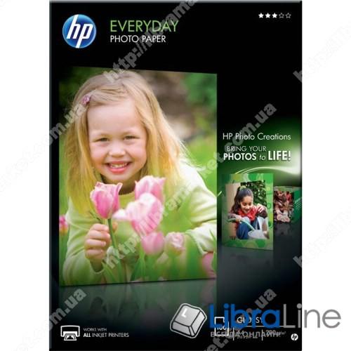 Q2510A Глянцевая фотобумага HP для ежедневной печати, 100 листов, A4, 210 x 297 мм фото 1