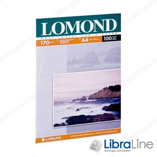 Фотобумага Lomond A3 Matte 100л 170g 2ст 0102012 купить цена фото 1