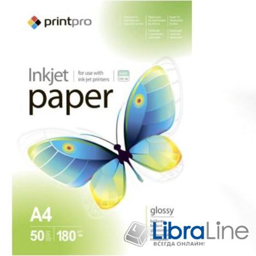 Фотобумага PrintPro A4 Glossy 50л 180g PG180-50 44015 PGE180050A4 фото 1