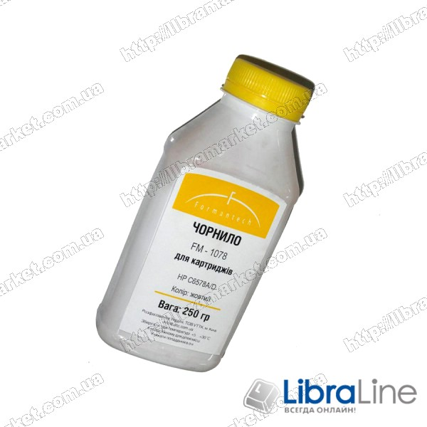 Чернила HP 6657 / 6578  FM-1057/1078 Yellow Formantech 250ml фото 1