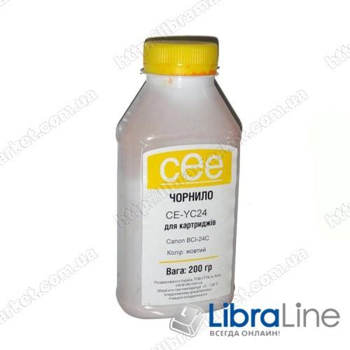 Чернила CANON BCI-24 Yellow  CE-MC24 CEE 200мл фото 1
