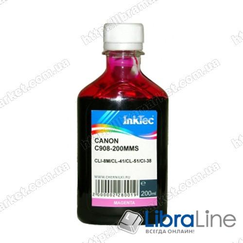 Чернила CANON CLI-8C / PG-41 / 51  Magenta 908 Ink-Tec 200мл фото 1