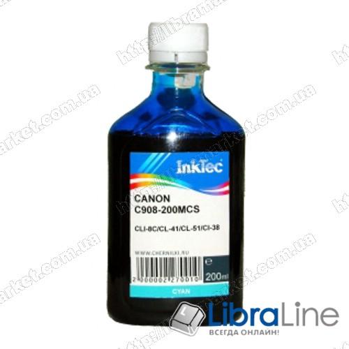 Чернила CANON CLI-8C / PG-41 / 51  Cyan 908 Ink-Tec 200мл фото 1