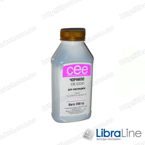 Чернила CANON CL-41 / CLI-8 Magenta CE-CC41 CEE 200мл фото 1