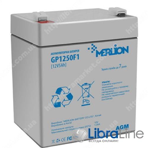 Аккумуляторная батарея Merlion GP1250F1 12V/5Ah, 90х70х100  105 фото 1