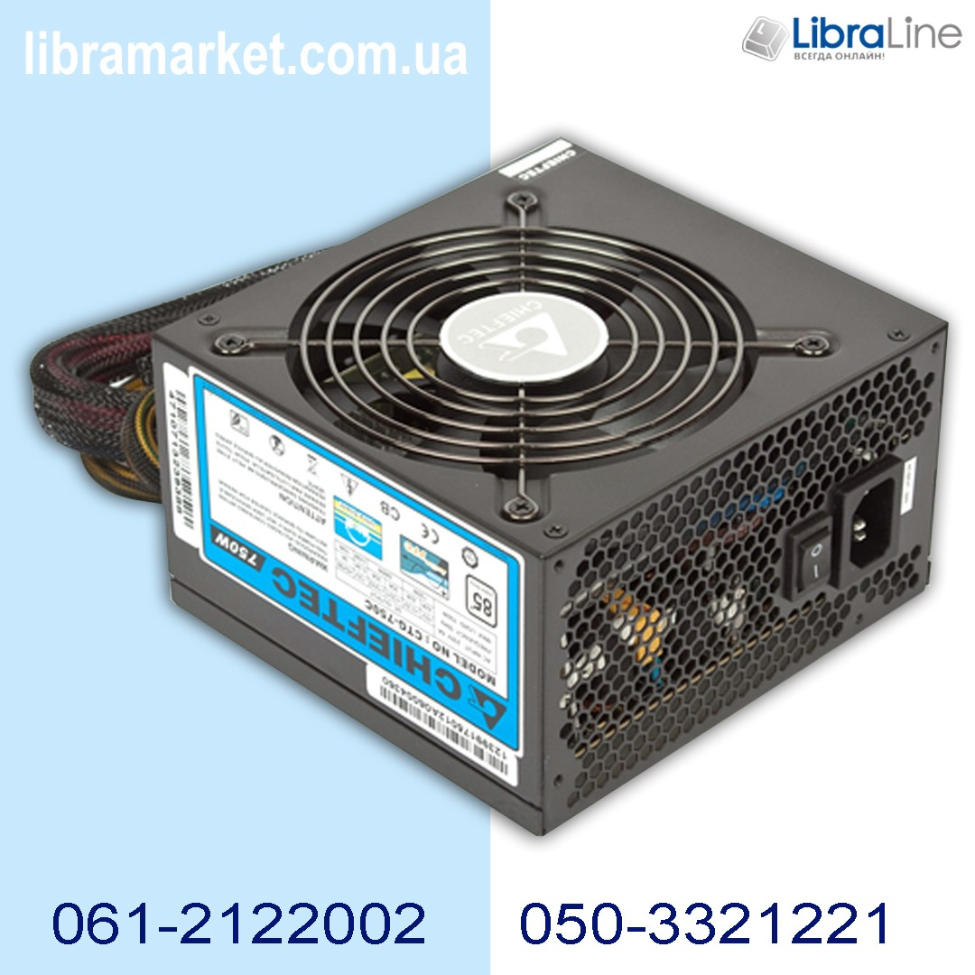 Блок питания ChiefTec 750W CTG-750C 12cm фото 1