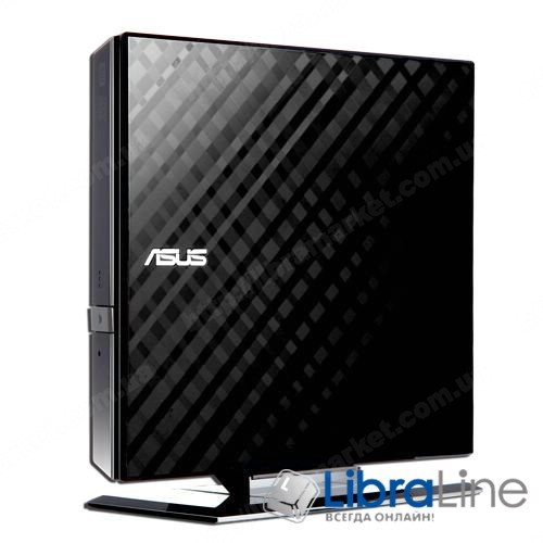 Оптический привод ASUS SDRW-08D2S-U LITE DVD+- R/RW USB2.0 EXT Ret Slim BlackData Storage DVD-RW black фото 1