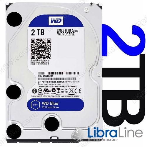 "WD20EZRZ Жесткий диск, винчестер 3.5"" SATA-3 2Tb Western Digital 5400rpm, 64Mb фото 1"