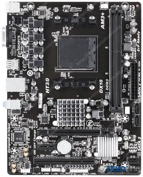 Материнская плата AM3+ Gigabyte GA-78LMT-S2R2 AMD 760G/DDR3-1333MHz*2 / SATA*6 / video / Raid / GLan / 7.1 / mATX фото 1
