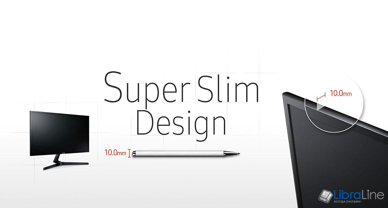 "Купить Монитор 27"" Samsung S27F358FWI black LED PLS, 4mc, DisplayPort, HDMI интернет магазине Либра Лайн"