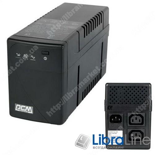 Источник бесперебойного питания Powercom BNT-600AP IEC 320 C13*2розетки, 360Вт, USB фото 1