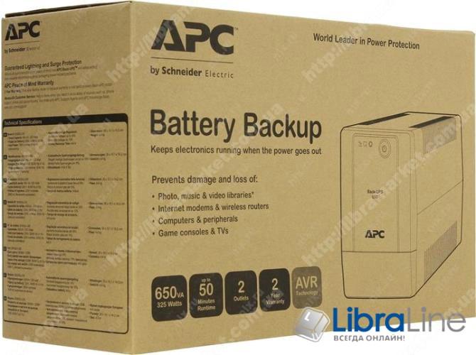 Источник бесперебойного питания APC Back-UPS 650VA BX650LI-GR фото 2