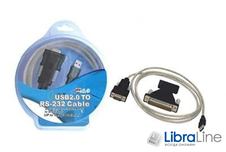 Кабель переходник конвертор USB to COM Viewcon VEN 24 USB 2.0, 1xCOM  9+25pin, кабель 1.5м  фото 1