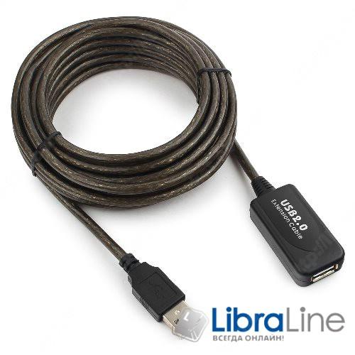 Купить Активный кабель удлинитель Cablexpert UAE-01-5M, USB 2.0- характеристики, обзор, отзывы, цена в Киеве, Харькове, Днепре, Одессе, Запорожье, Львове, Украине фото 1