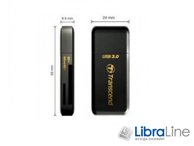 Купить Кардридер Transcend TS-RDF5K USB 3.0 лучшая цена в Киеве, Харькове, Днепре, Одессе, Запорожье, Львове, Украине фото 1