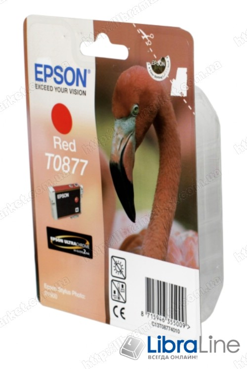 C13T08774010 Картридж EPSON Stylus Photo R1900 Red фото 1