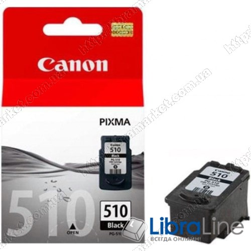 2970B001 / 2970B007 Картридж CANON PG-510Bk MP240 / 250 / 260 / 270 / 480 / 490 / MX320 / 330 Black фото 1