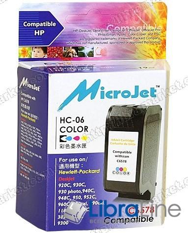C6578D G068191 HC-06 Картридж HP №78 DJ 3820 / 920 / DJ9300 / 6122 / 6127 / P1000 / P1100 / 1215 / 1315 Micro Jet Color фото 1