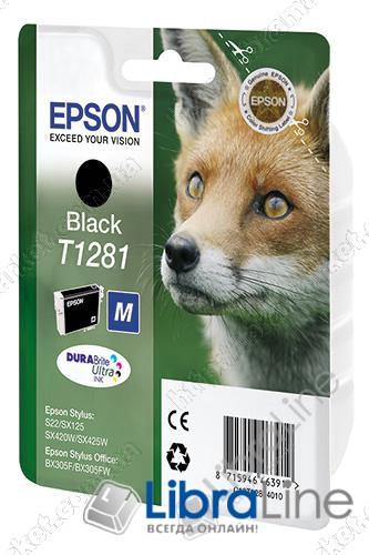C13T12814010 Картридж EPSON Stylus S22 / SX125 / SX420W / SX425W / BX305F Black фото 1