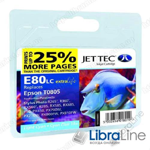 110E008005 G064458 E80LС Картридж EPSON Stylus Photo P50 / PX660 / PX720WD Jet Tec Light  Cyan фото 1