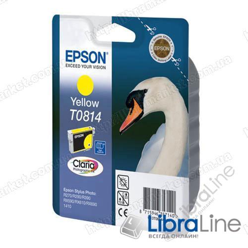 Картридж EPSON Stylus Photo 1410 / R270 / R290 / R295 / R390 / RX590 / RX610 / RX615 / RX690 / T50 / T59 / RX650 / TX659 / TX700W / TX710W / TX800FW Yellow T0814 (из комплекта C13T11174A10) фото 1