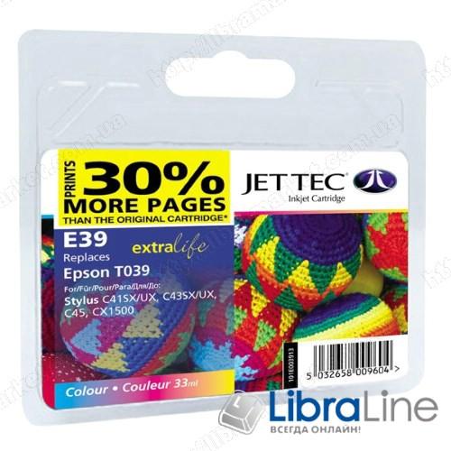 110E003913 G065658  Картридж EPSON C41 / C43 / C45 / CX1500 Jet Tec Colour E39 фото 1