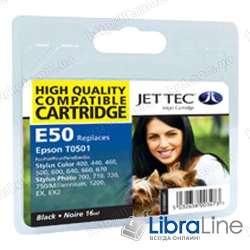 110E005001 G062608 Картридж EPSON Stylus Color 400 / 440 / 500 / 600 / 640 Jet Tec Black  E50 фото 1