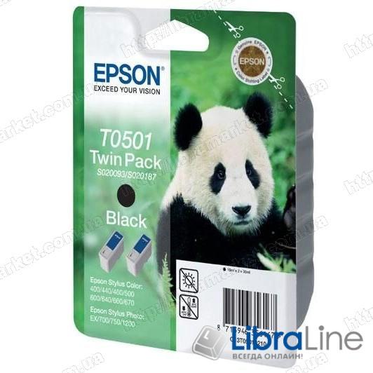 C13T05014210 Картридж EPSON Stylus Color 400 / 440 / 460 / 500 / 600 / 640 / 660 / 670 / 700 / 710 / 720 / 750 / 1200 Black Double фото 1
