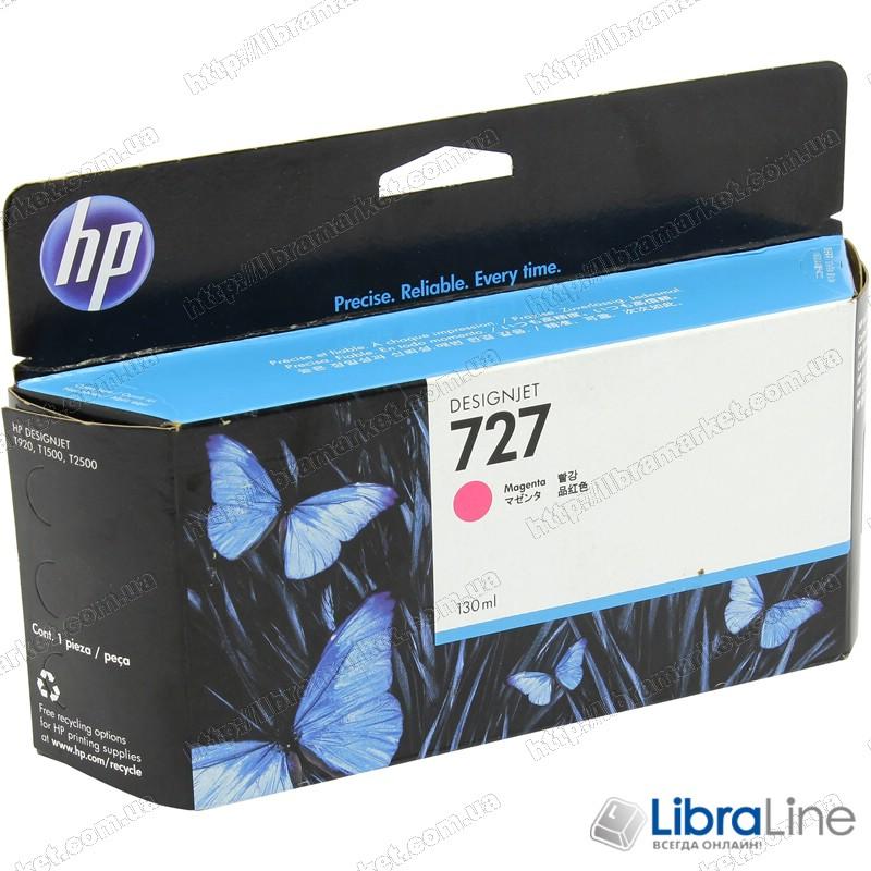 B3P20A Картридж HP №727 DesignJet T1500 / T920 Magenta 130мл. фото 1