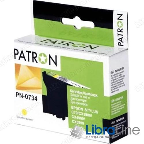 CI-EPS-T07344-Y3-PN Картридж EPSON Stylus C79 / 110, CX3900 / 4900 / 5900 / 6900F / 7300 / 8300 / 9300F, TX200 / 209 / 210 / 219 / 400 / 409 / 410 / 419 / 550, Office T30 / T40W, TX300F / 510 / 550 / 600FW PATRON Yellow фото 1