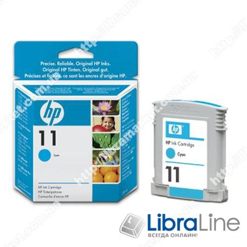 C4836A, HP 11, Оригинальный струйный картридж HP, Голубой фото 1