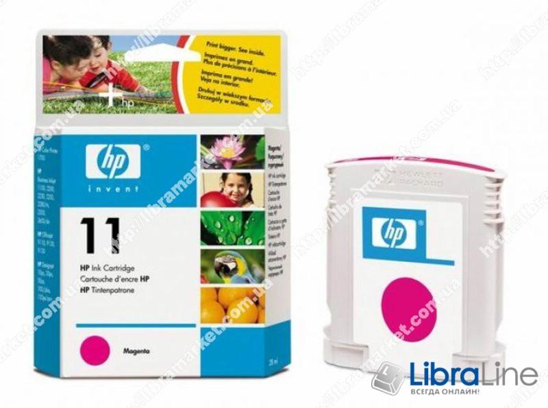 C4837A, HP 11, Оригинальный струйный картридж HP, Пурпурный фото 1