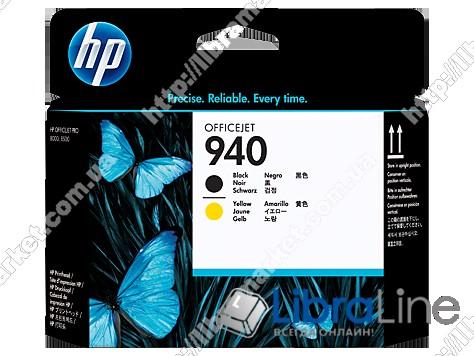 C4900A, Черная и желтая оригинальная печатающая головка HP 940 фото 1