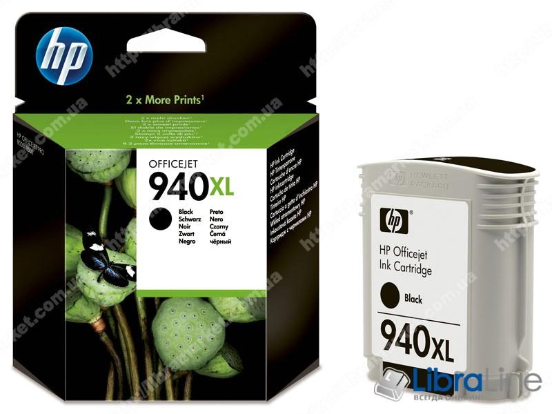 C4906AE, HP 940XL, Оригинальный струйный картридж HP увеличенной емкости, Черный фото 1