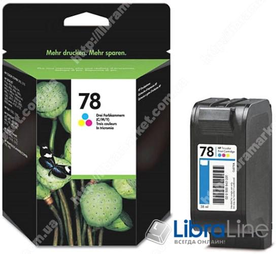 C6578D, HP 78, Оригинальный струйный картридж HP, Трехцветный фото 1