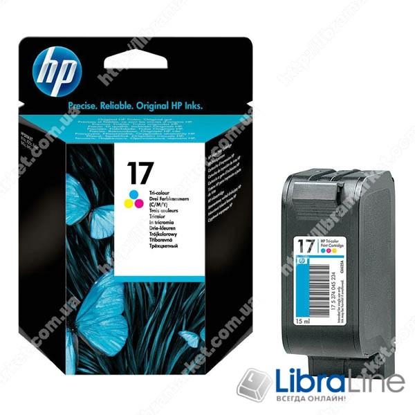 C6625A, HP 17, Оригинальный струйный картридж HP, Трехцветный фото 1