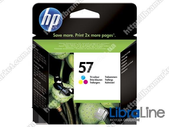 C6657AE, HP 57, Оригинальный струйный картридж HP, Трехцветный фото 1