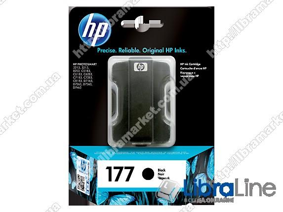 C8721HE, HP 177, Оригинальный струйный картридж HP, Черный фото 1