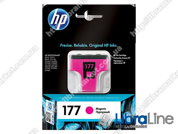 C8772HE, HP 177, Оригинальный струйный картридж HP, Пурпурный фото 1