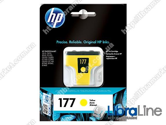 C8773HE, HP 177, Оригинальный струйный картридж HP, Желтый фото 1