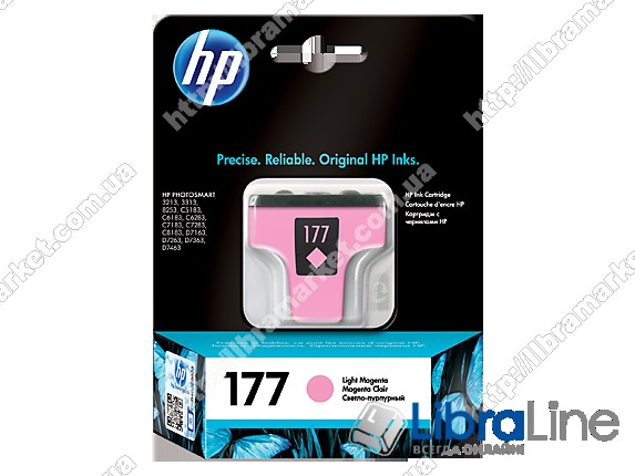 C8775HE, HP 177, Оригинальный струйный картридж HP, Светло-пурпурный фото 1
