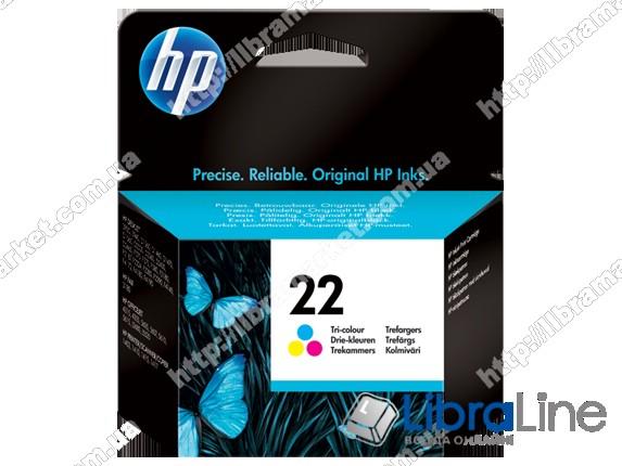 C9352AE, HP 22, Оригинальный струйный картридж HP, Трехцветный фото 1