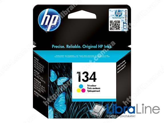 C9363HE, HP 134, Оригинальный струйный картридж HP, Трехцветный фото 1