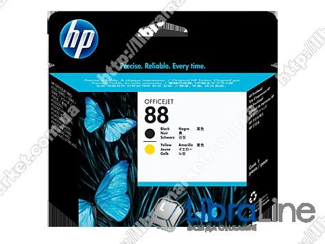 C9381A, Черная и желтая оригинальная печатающая головка HP 88 фото 1